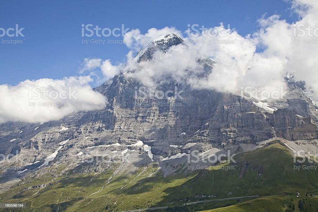 North face of Eiger stock photo