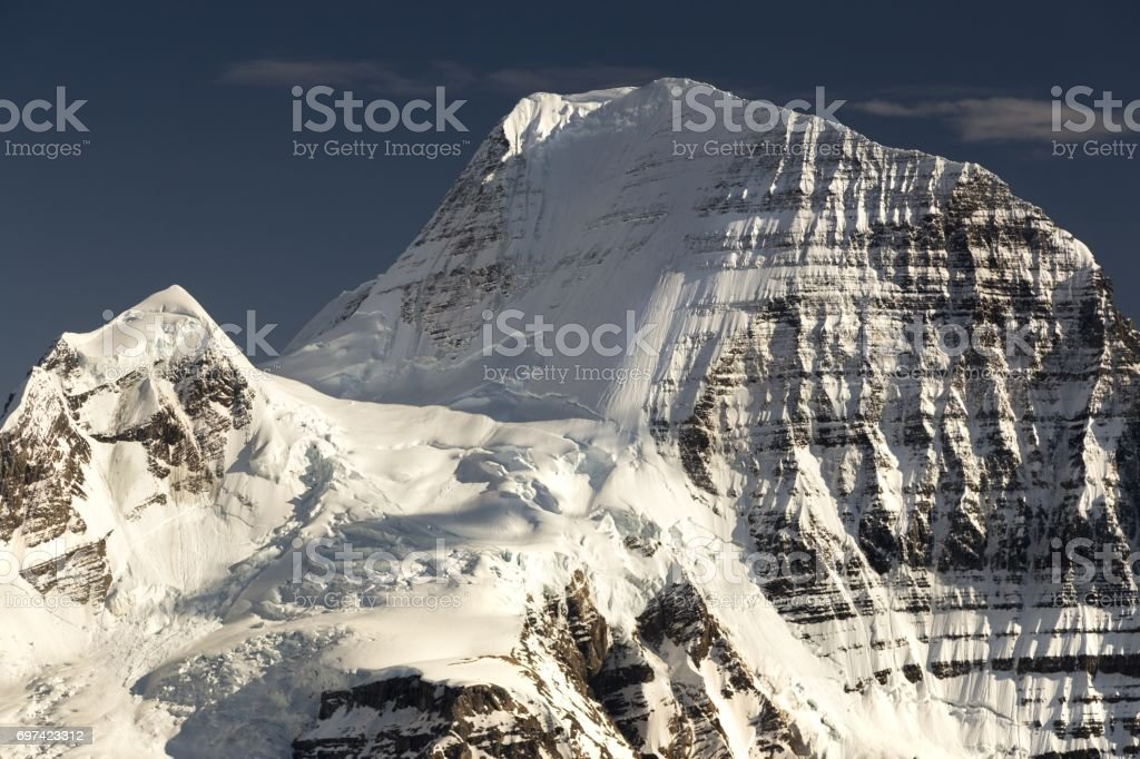 North Face of Mount Robson stock photo