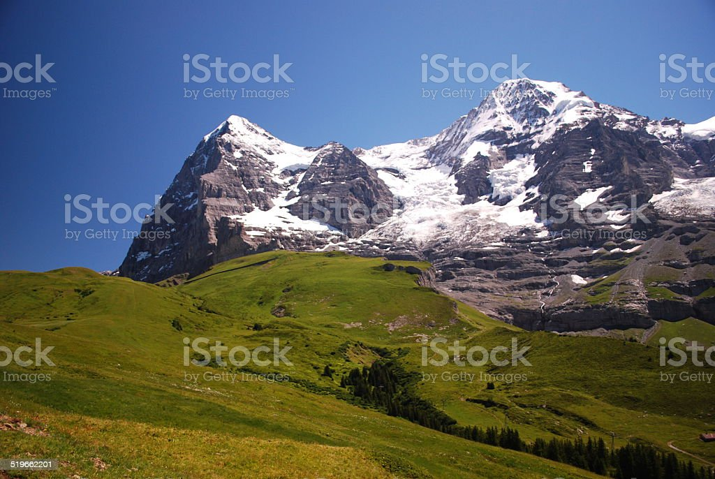 North face of the Eiger stock photo