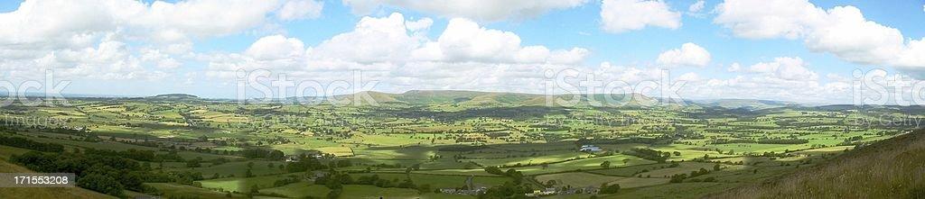 North facing panorama of Longridge Fell, Lancashire, U.K. stock photo