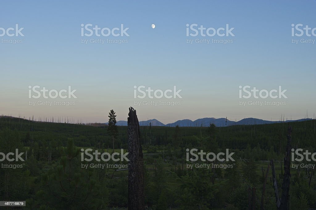 North Flathead Valley Moon stock photo