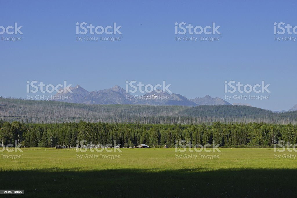 North Flathead Valley stock photo