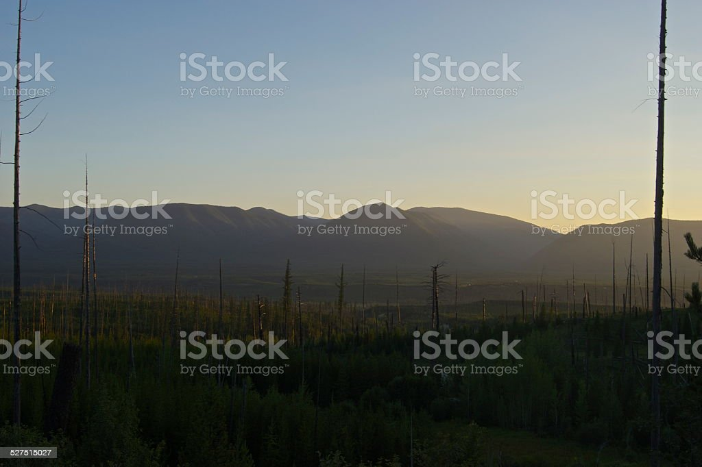 North Flathead Valley Radiance stock photo