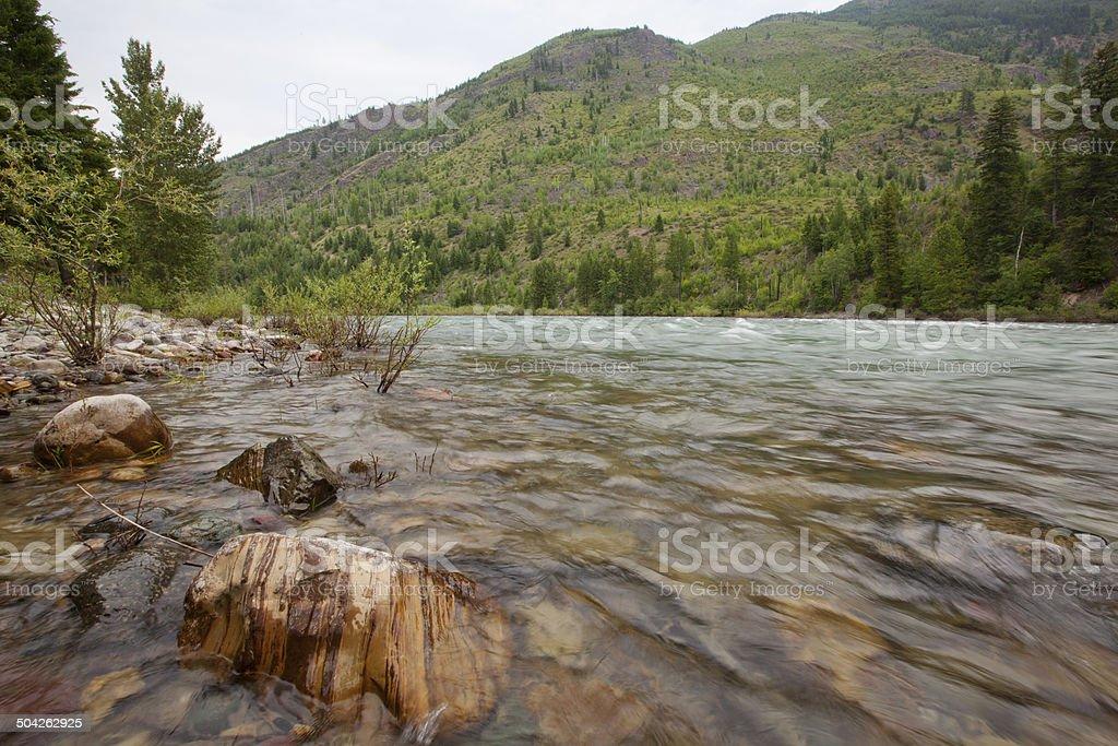 North Fork Flathead River stock photo