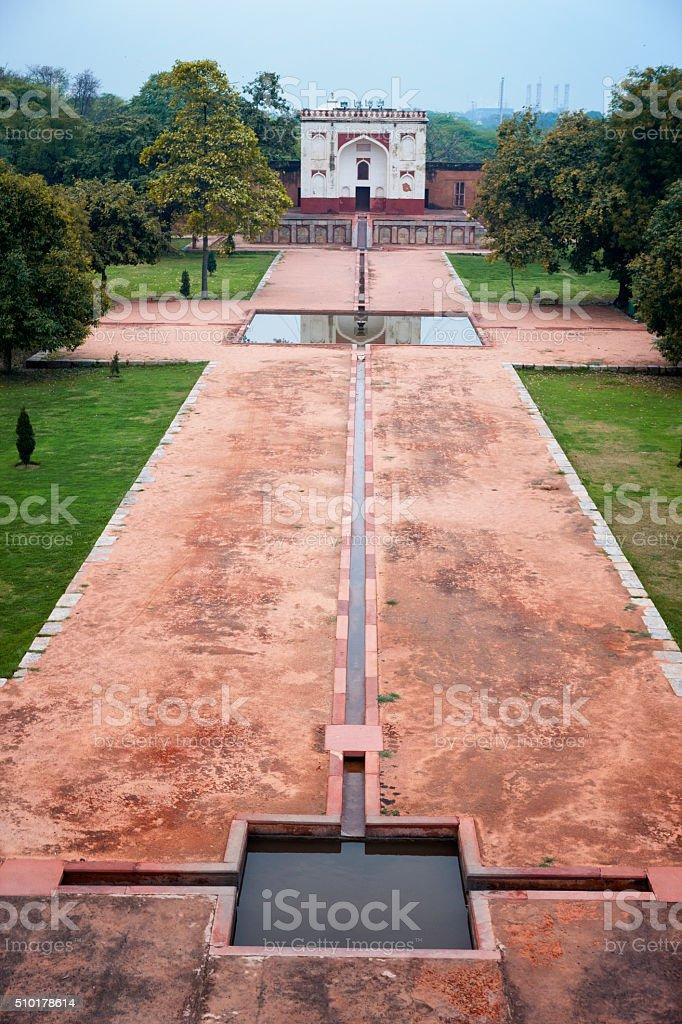 North Gate at Humayun's Tomb in New Delhi, India stock photo