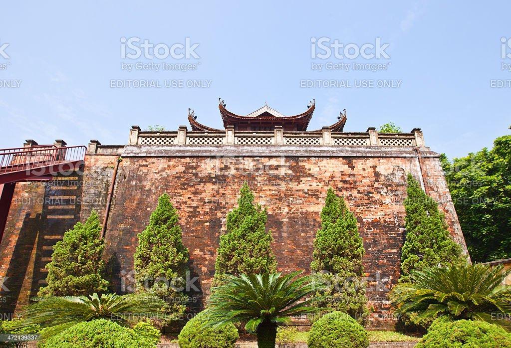 North Gate (1805) of Imperial Citadel in Hanoi, Vietnam stock photo