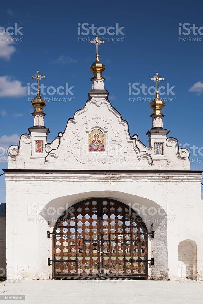 North gate of Tobolsk Kremlin royalty-free stock photo