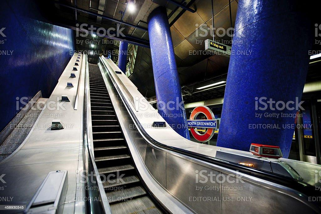 North Greenwich Underground Station, London, UK royalty-free stock photo