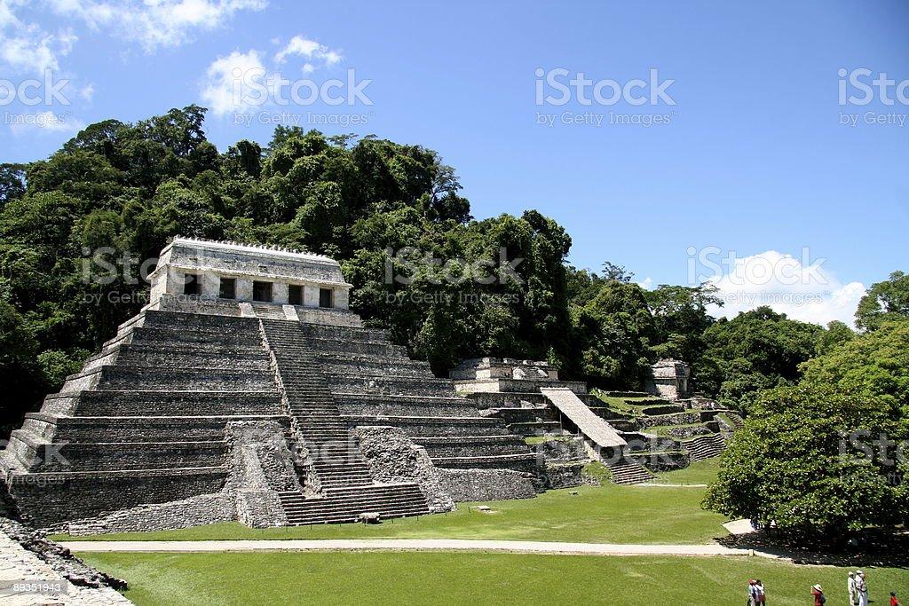 North group temple complex Palenque Mexico stock photo