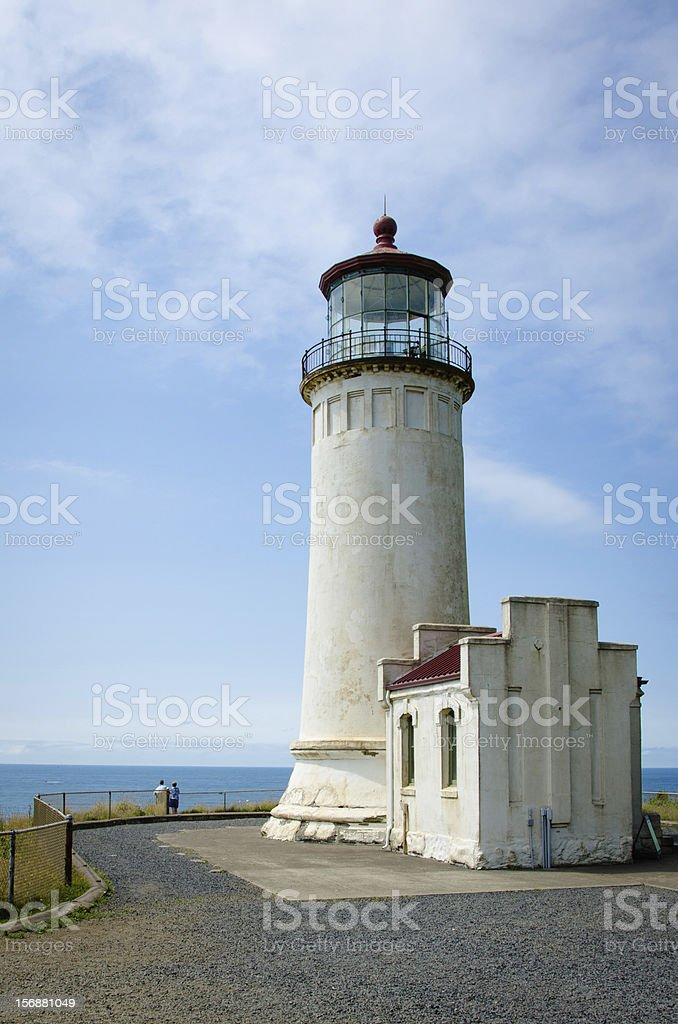 North Head Lighthouse in Washington stock photo