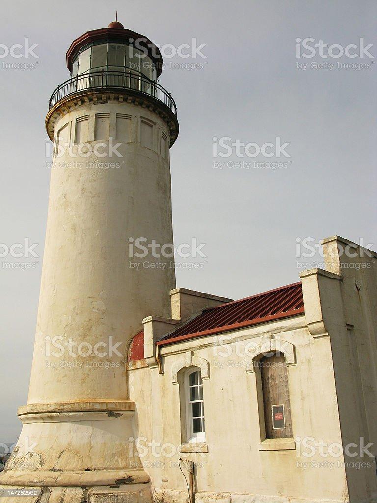 North Head Lighthouse, Washington stock photo