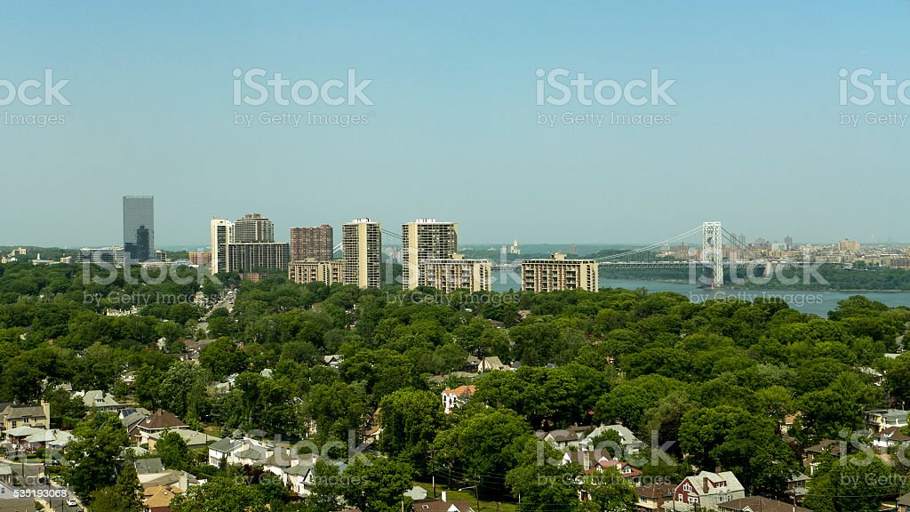 North Jersey and George Washington Bridge stock photo