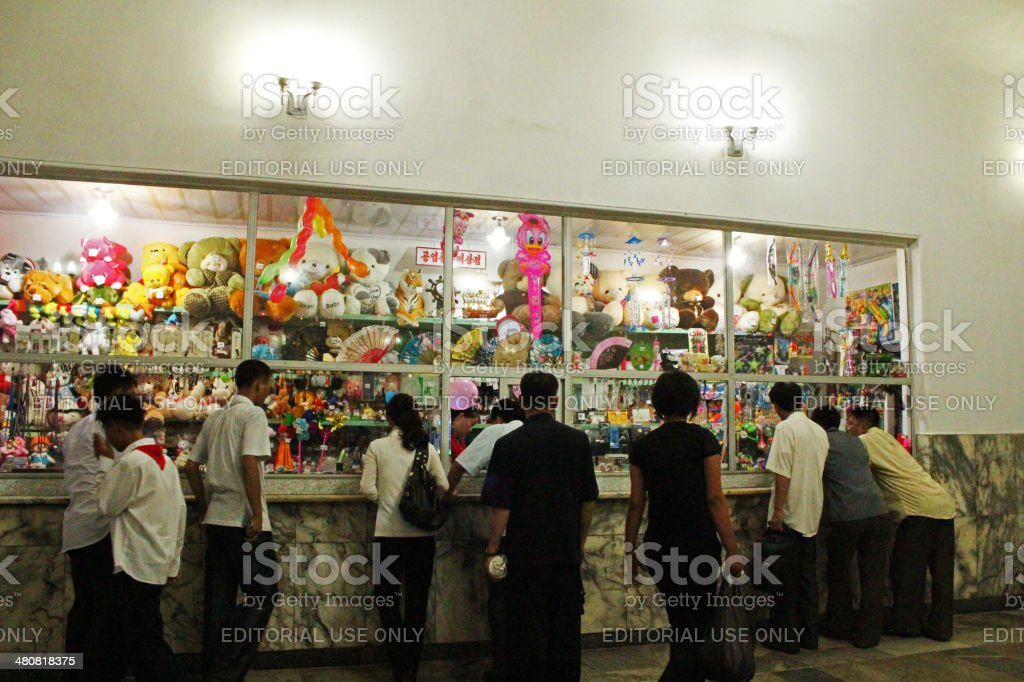 North Korea DPRK: Gift Store Filled With Toys in Pyongyang stock photo
