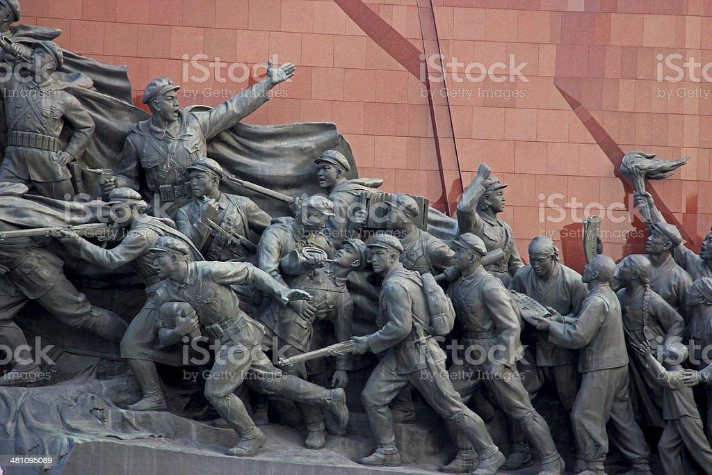 North Korea DPRK: Mansudae Grand Monument stock photo