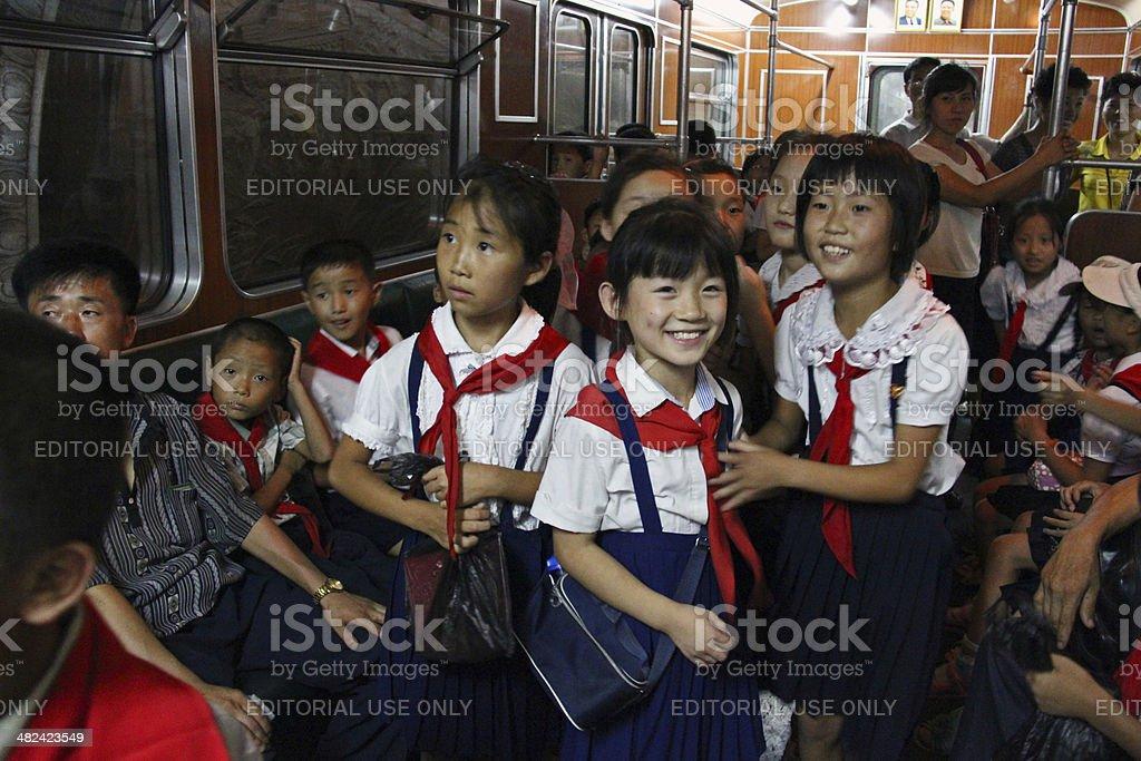 North Korea DPRK: Pyongyang Metro stock photo