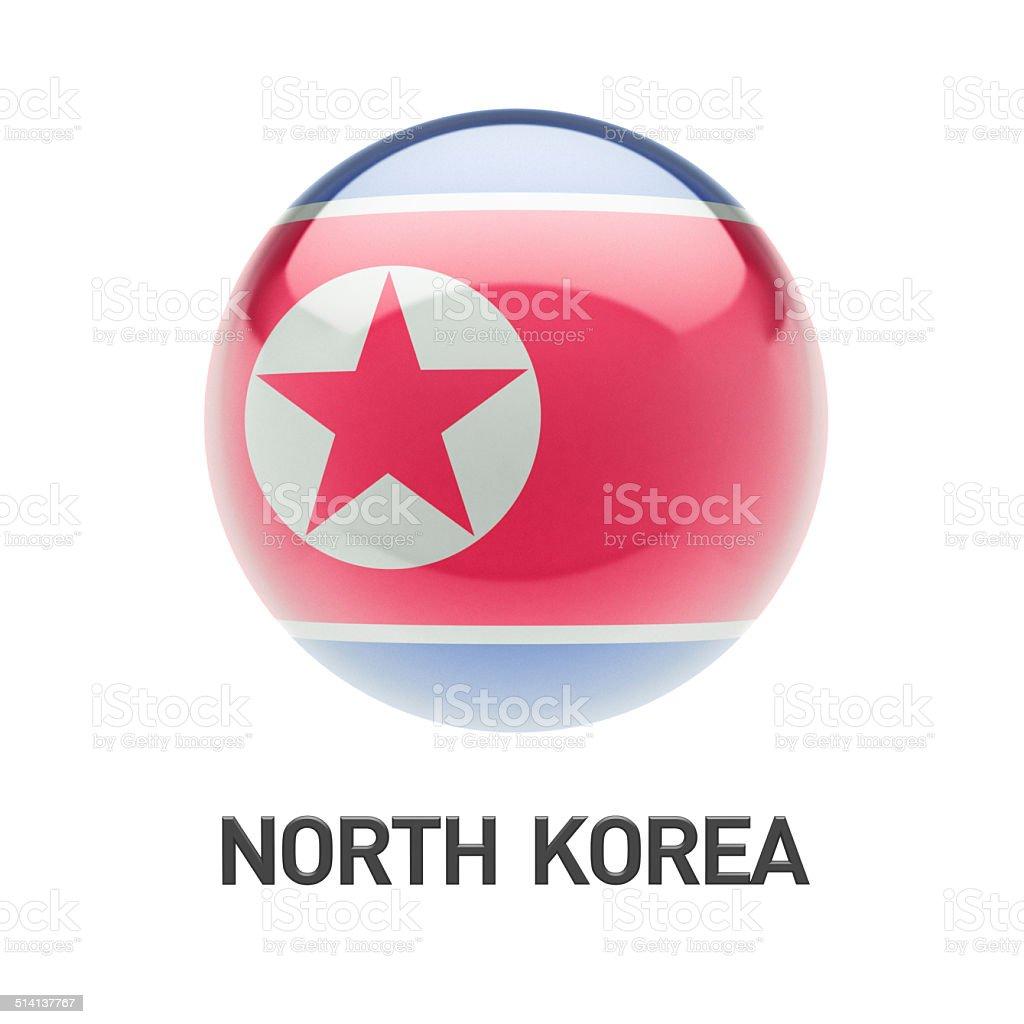 North Korea Flag Icon stock photo