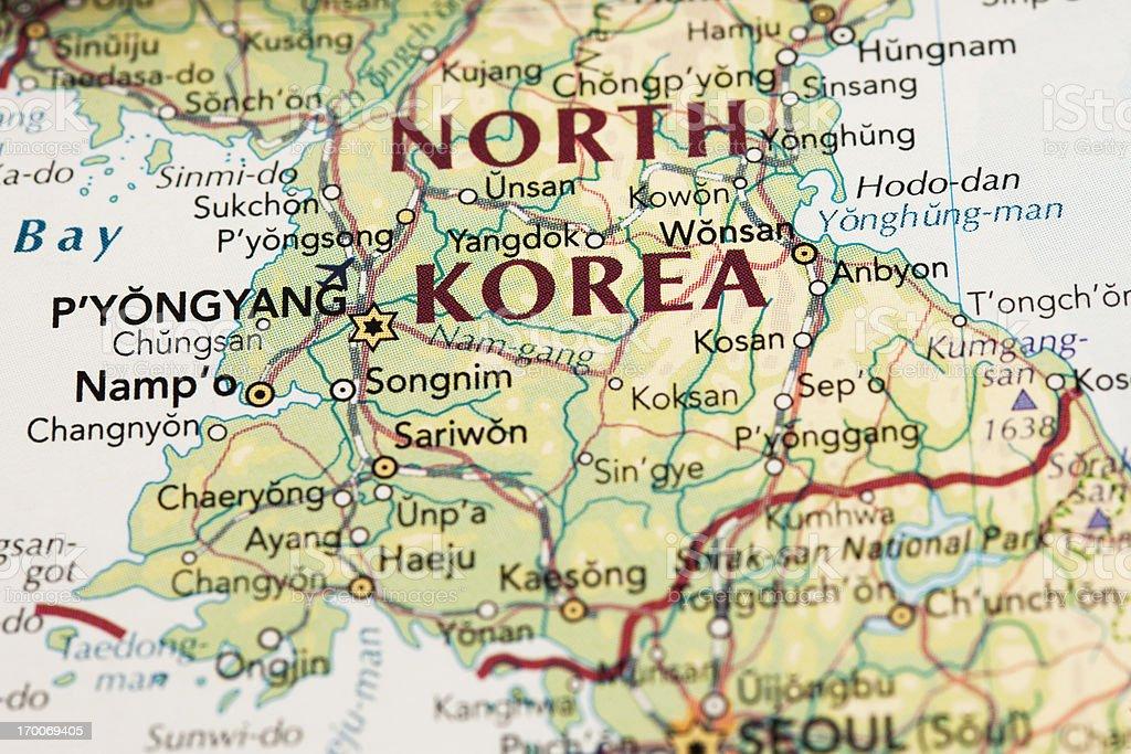 North Korea map stock photo