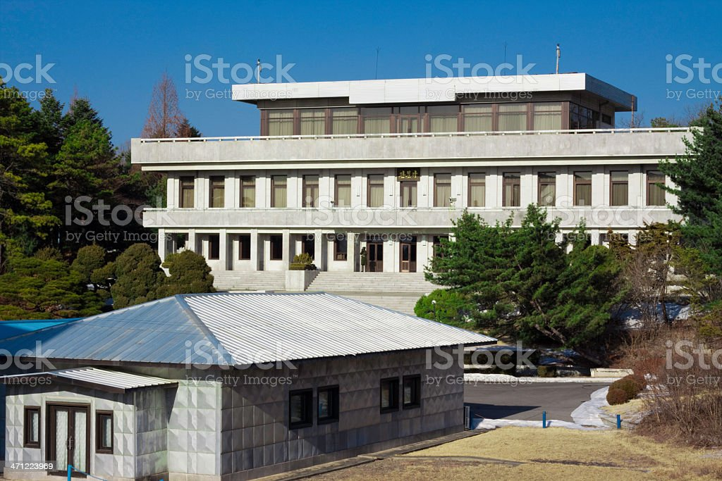 North Korean Border Base royalty-free stock photo