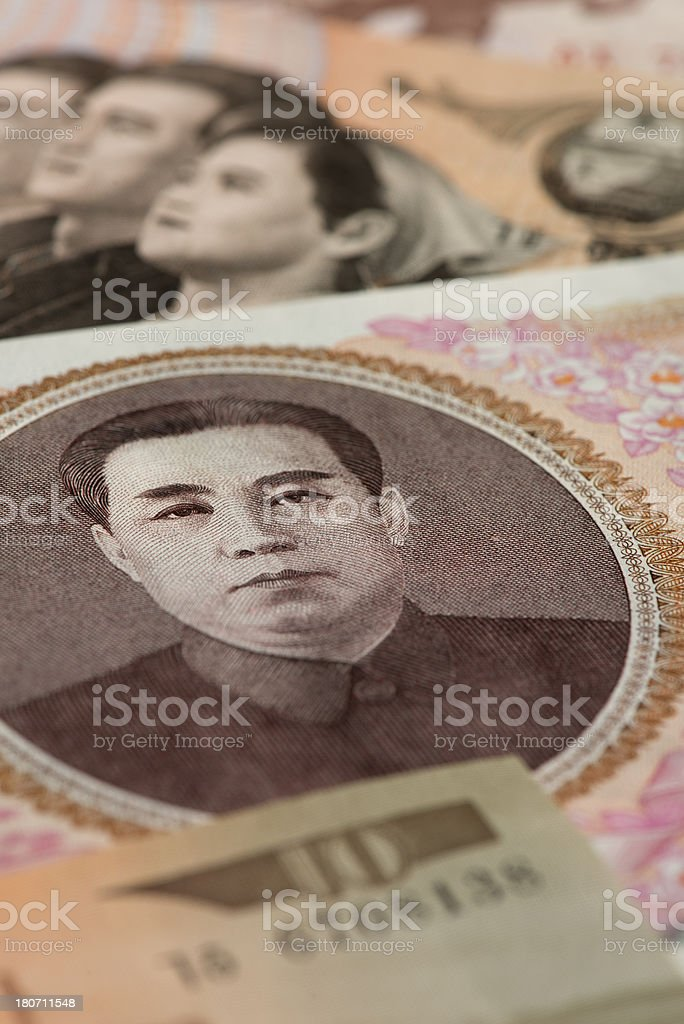 North Korean currency royalty-free stock photo