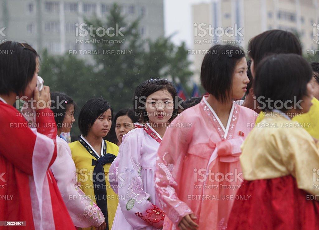 North Korean Dancer in Nampo stock photo