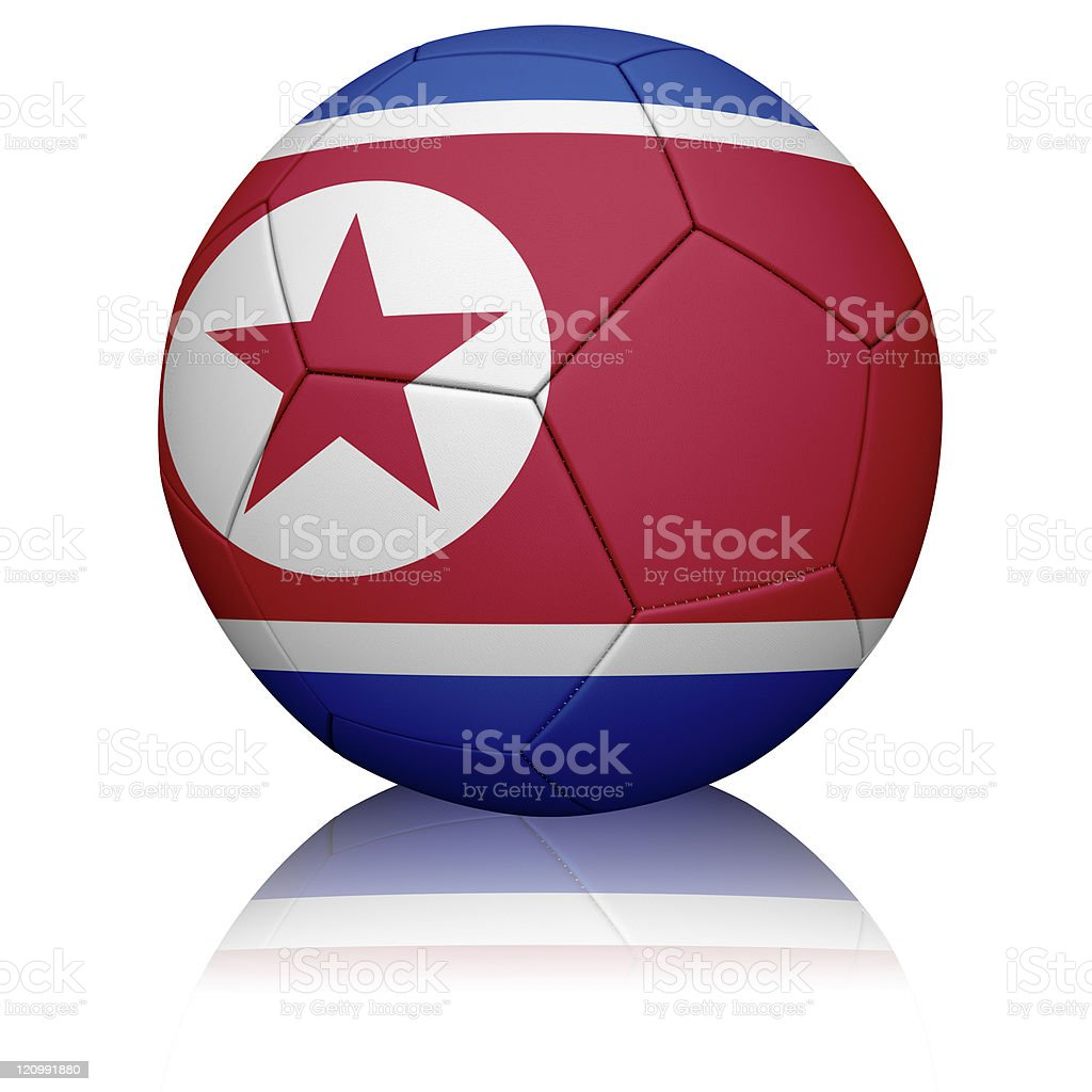 North Korean Flag Football royalty-free stock photo