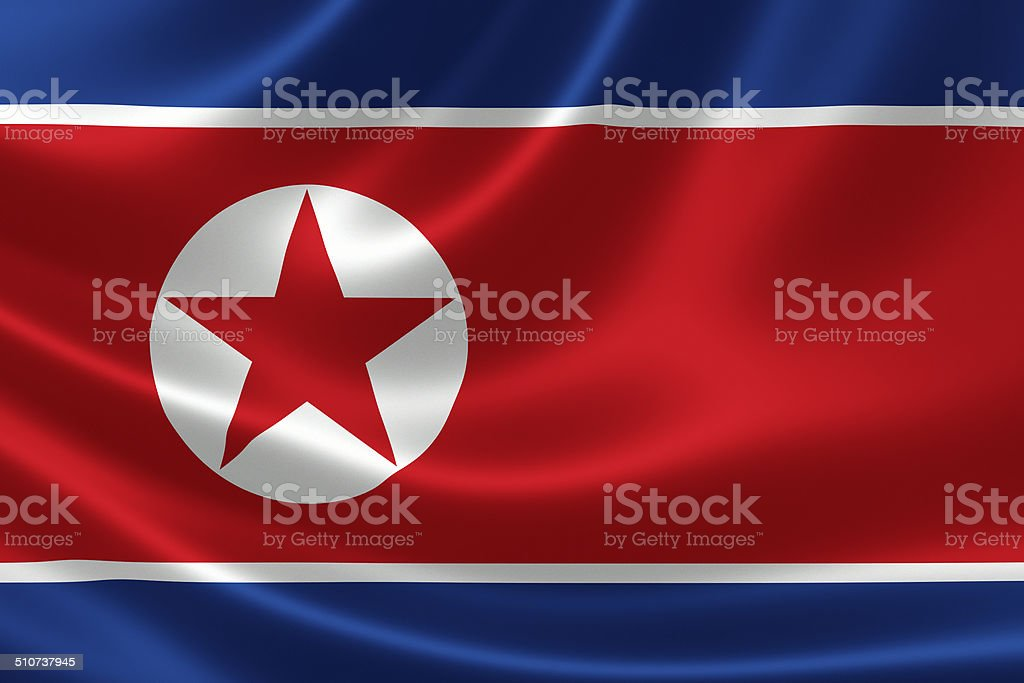 North Korean Flag stock photo