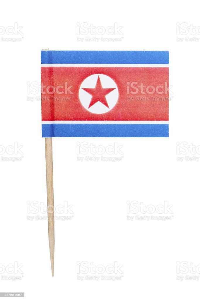 North Korean paper flag stock photo
