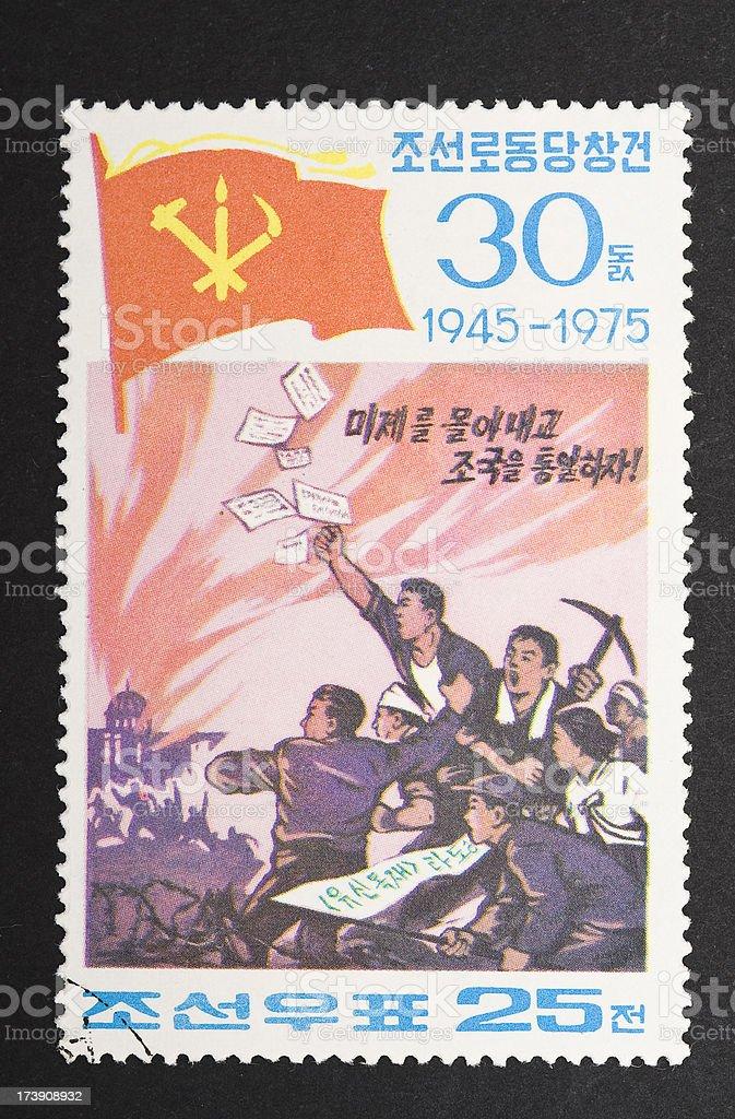 North korean revolution royalty-free stock photo