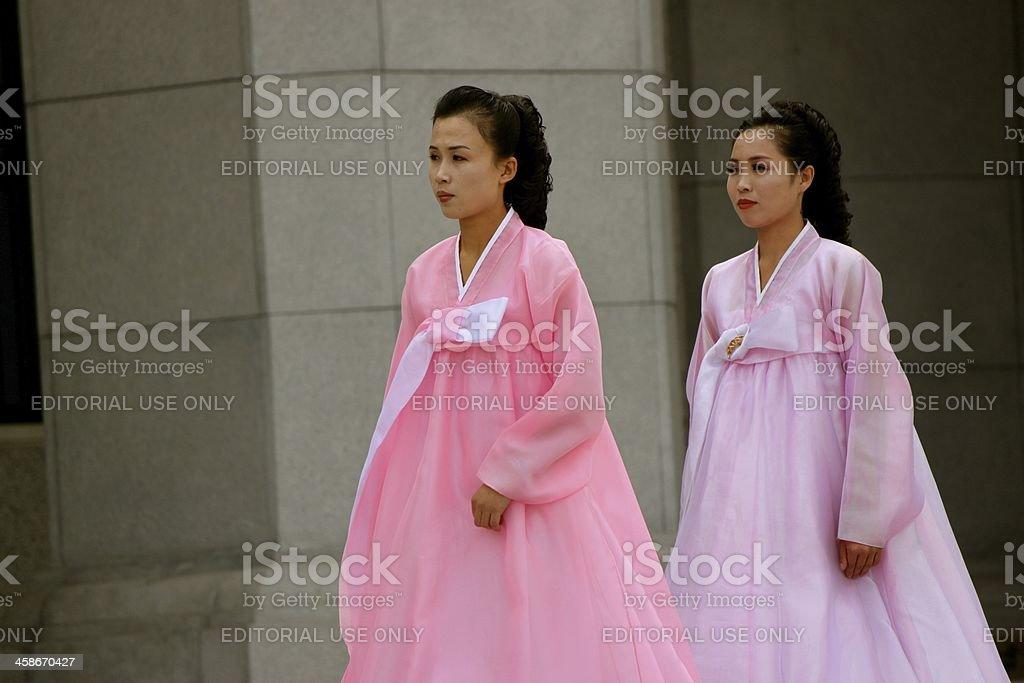 North Korean Woman stock photo
