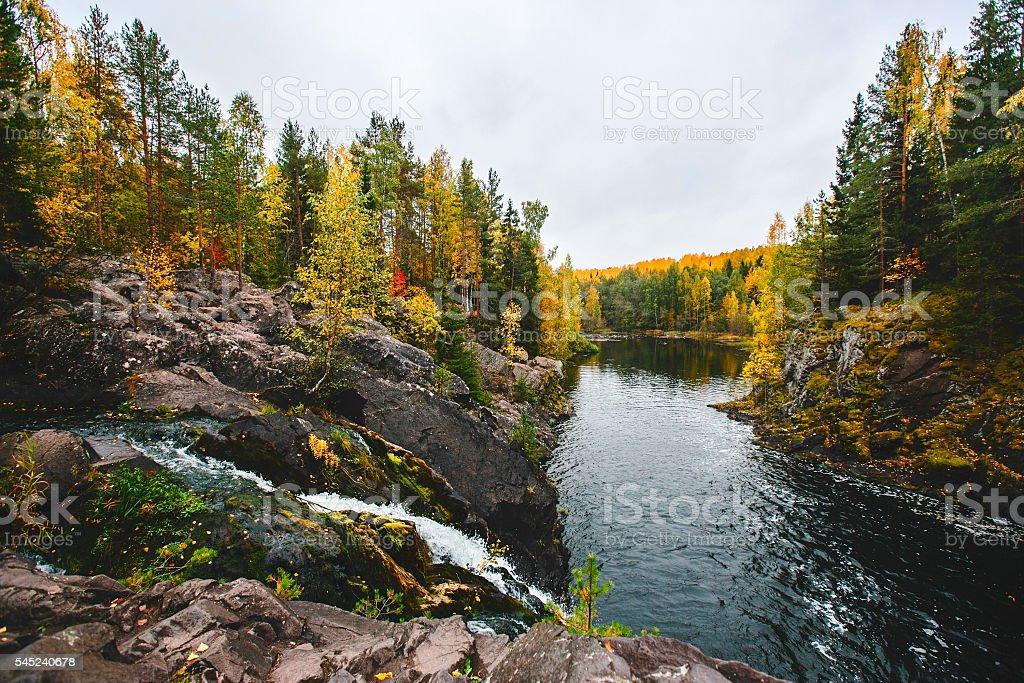 North lake in Karelia stock photo