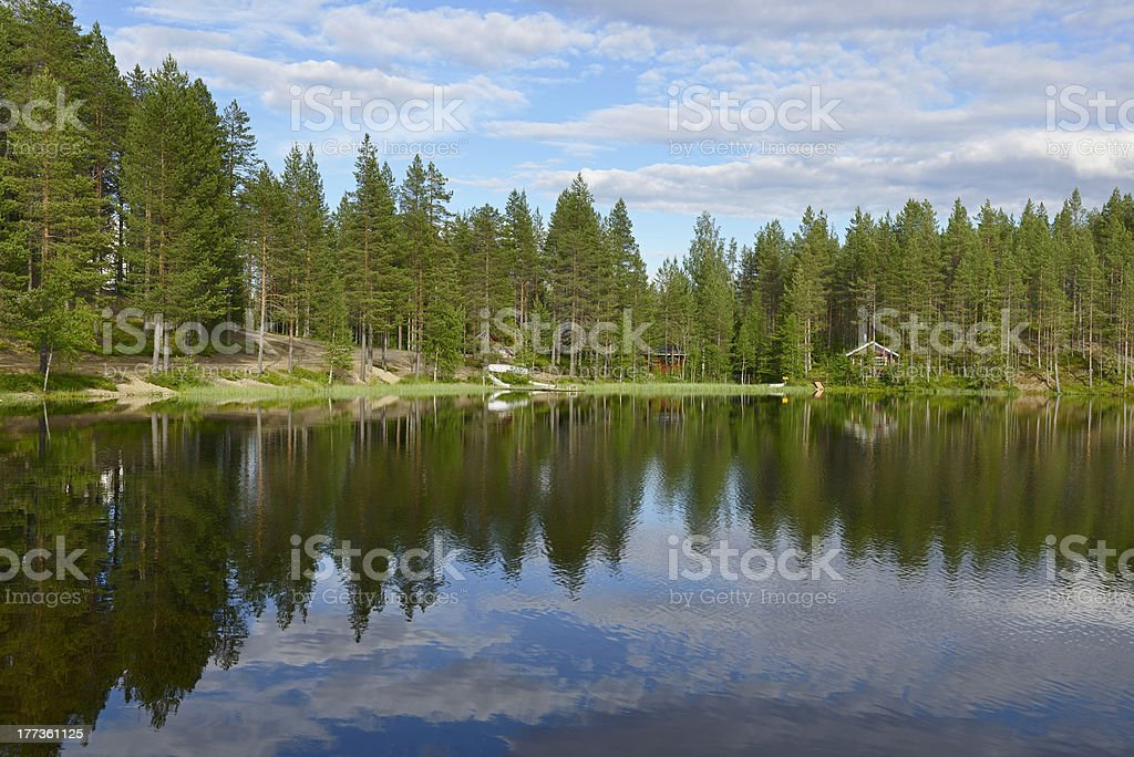 North Lake with a smooth surface royalty-free stock photo