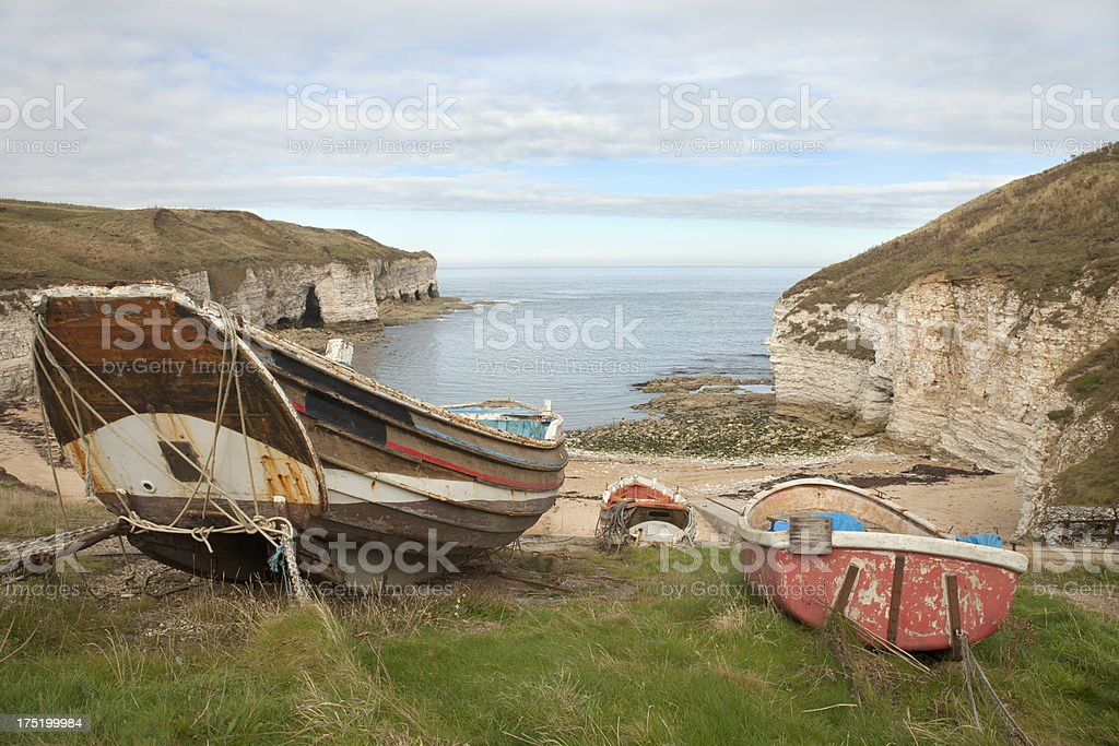 North Landing, Flamborough, Yorkshire stock photo
