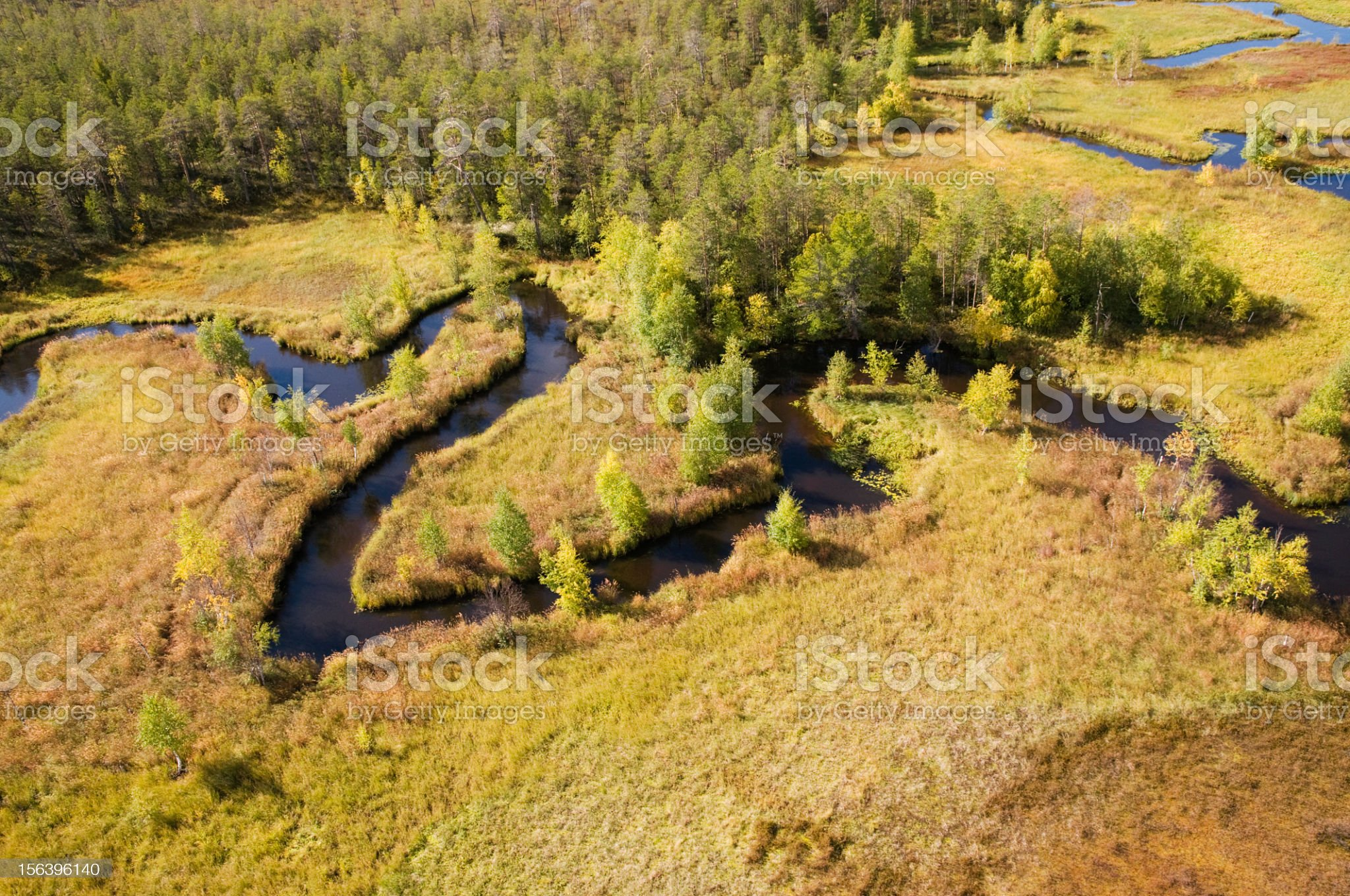 North meandering river. royalty-free stock photo
