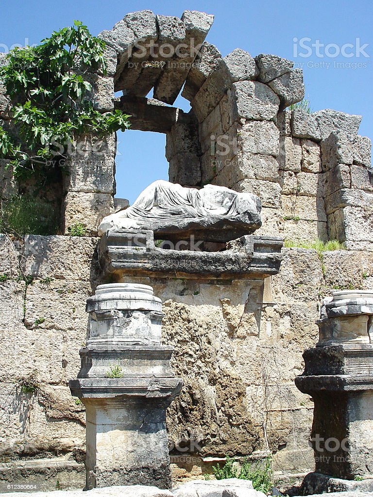 North Nymphaeum ancient Perge. Antalya. Turkey stock photo