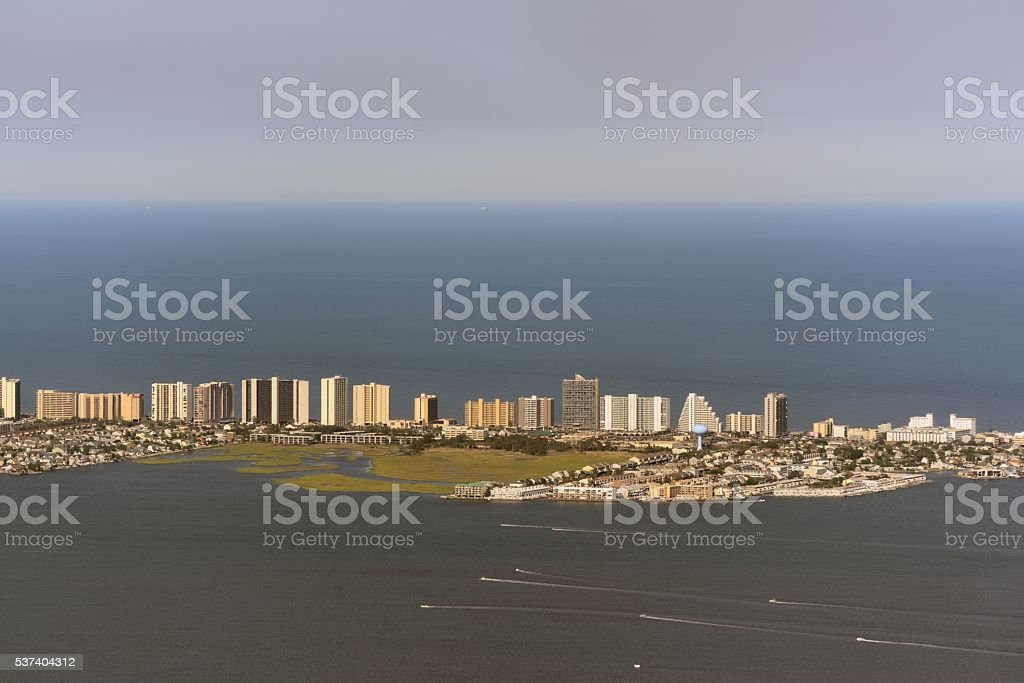 North Ocean City Skyline stock photo