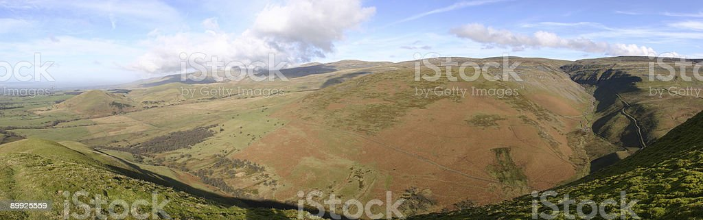 North Pennines, From Dufton Pike, Cumbria stock photo