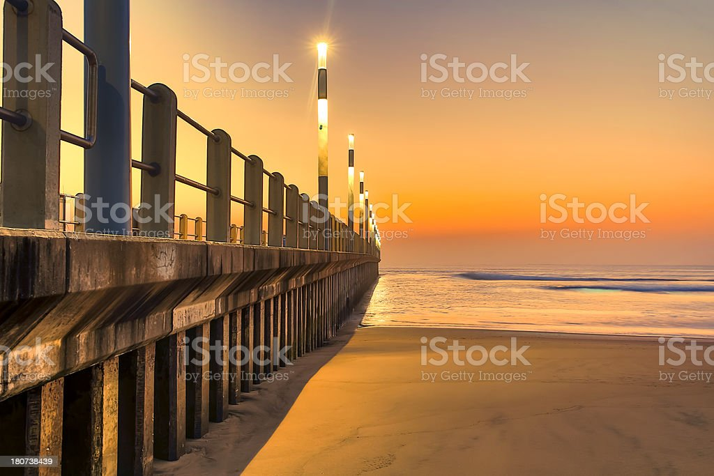North Pier Durban South Africa stock photo