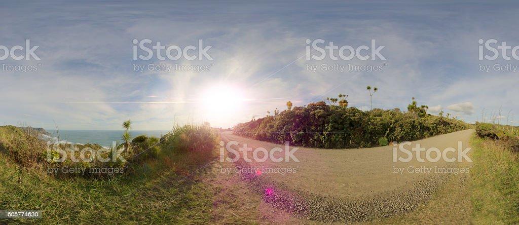 North Piha with flare stock photo