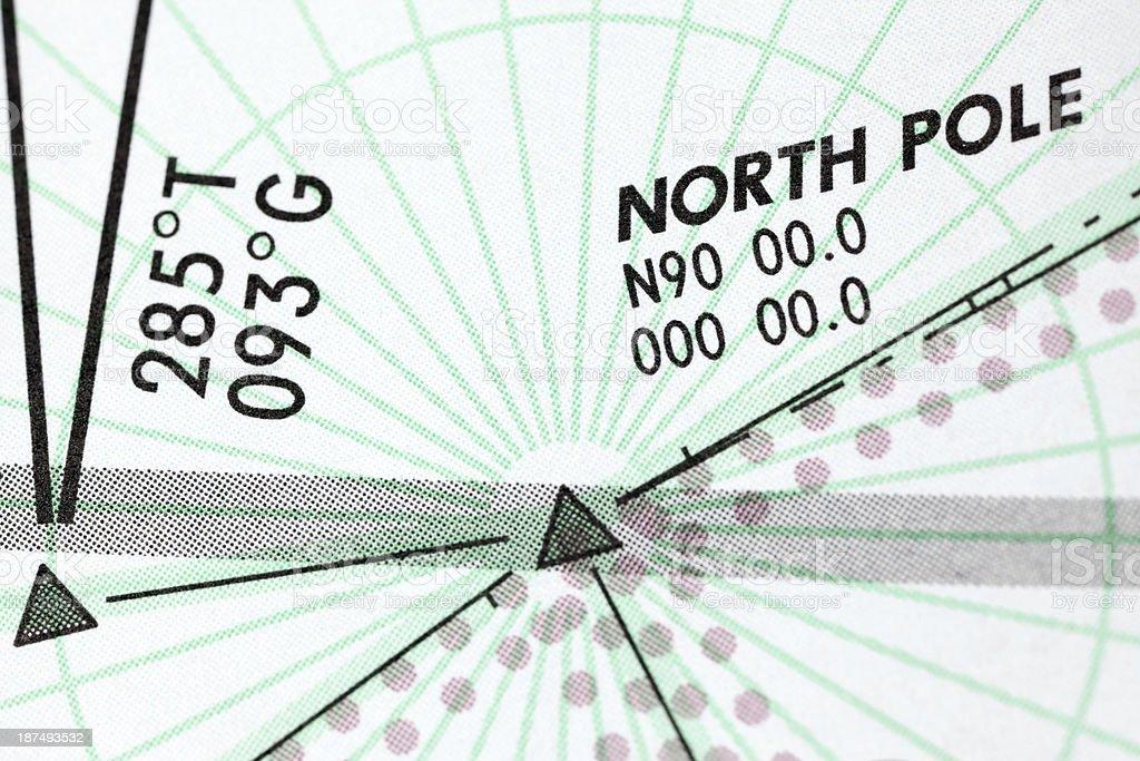 North Pole Macro Polar High Altitude Aviation Chart stock photo