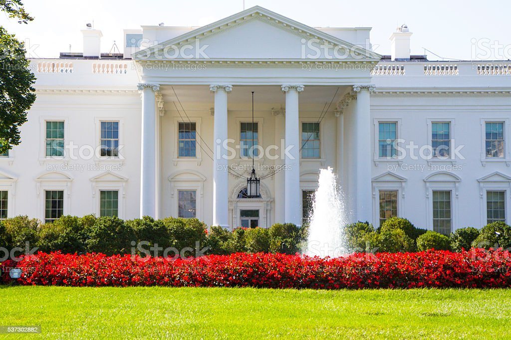 North Portico Of The White House - Washington DC stock photo