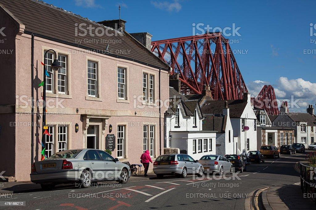 North Queensferry Scotland, Forth Rail Bridge stock photo