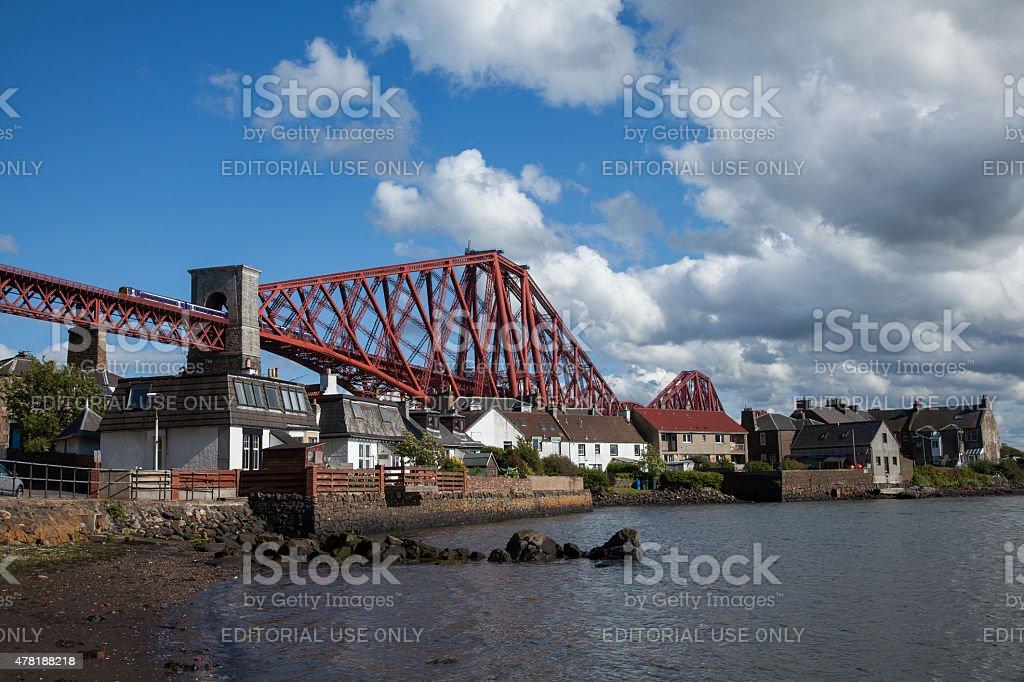 North Queensferry, Scotland, Forth Rail Bridge stock photo