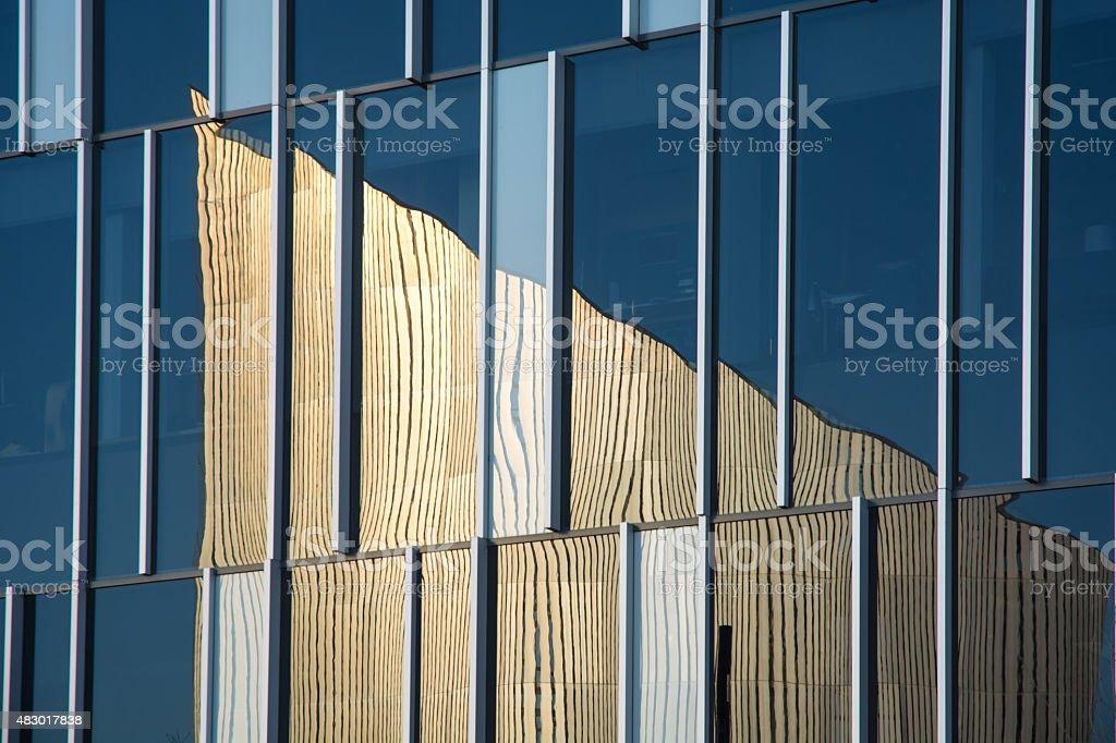 IWM North reflection stock photo