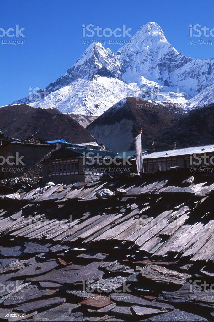 North ridge of Ama Dablam stock photo