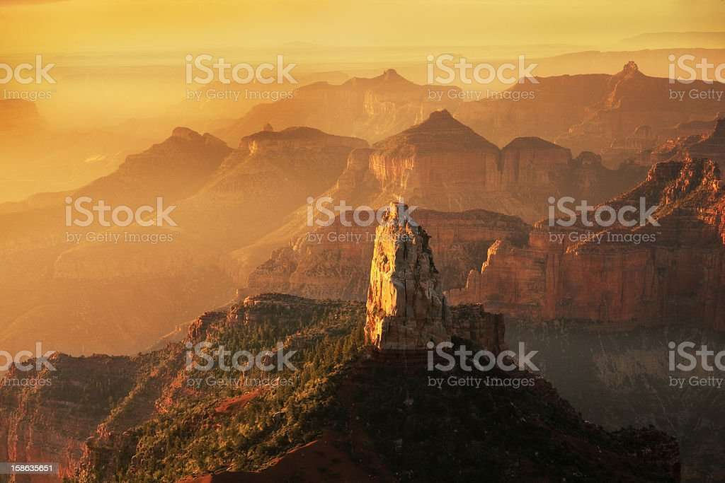 North Rim Point Imperial Sunrise at Grand Canyon National Park royalty-free stock photo