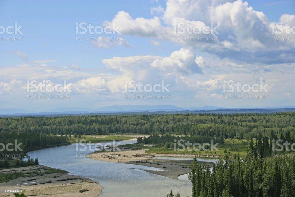North Saskatchewan River stock photo