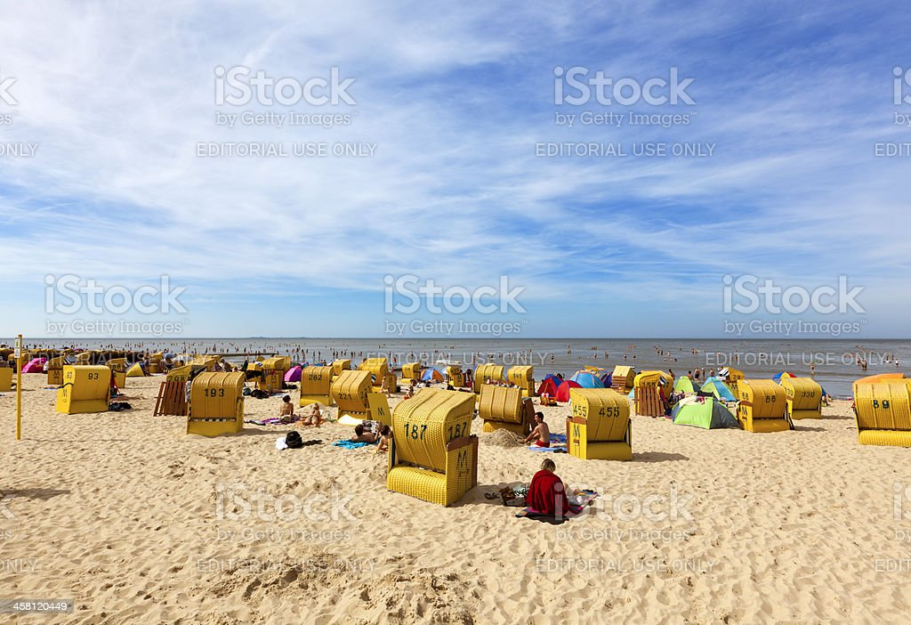 North Sea Beach at Cuxhaven-Duhnen stock photo