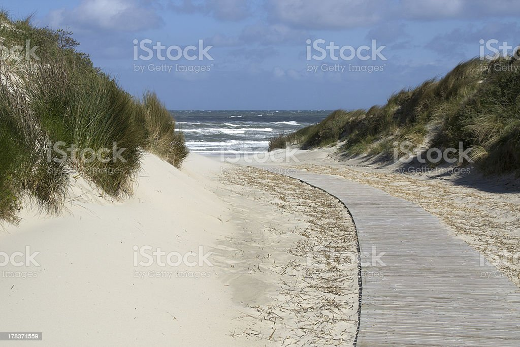 North Sea Beach on Juist stock photo