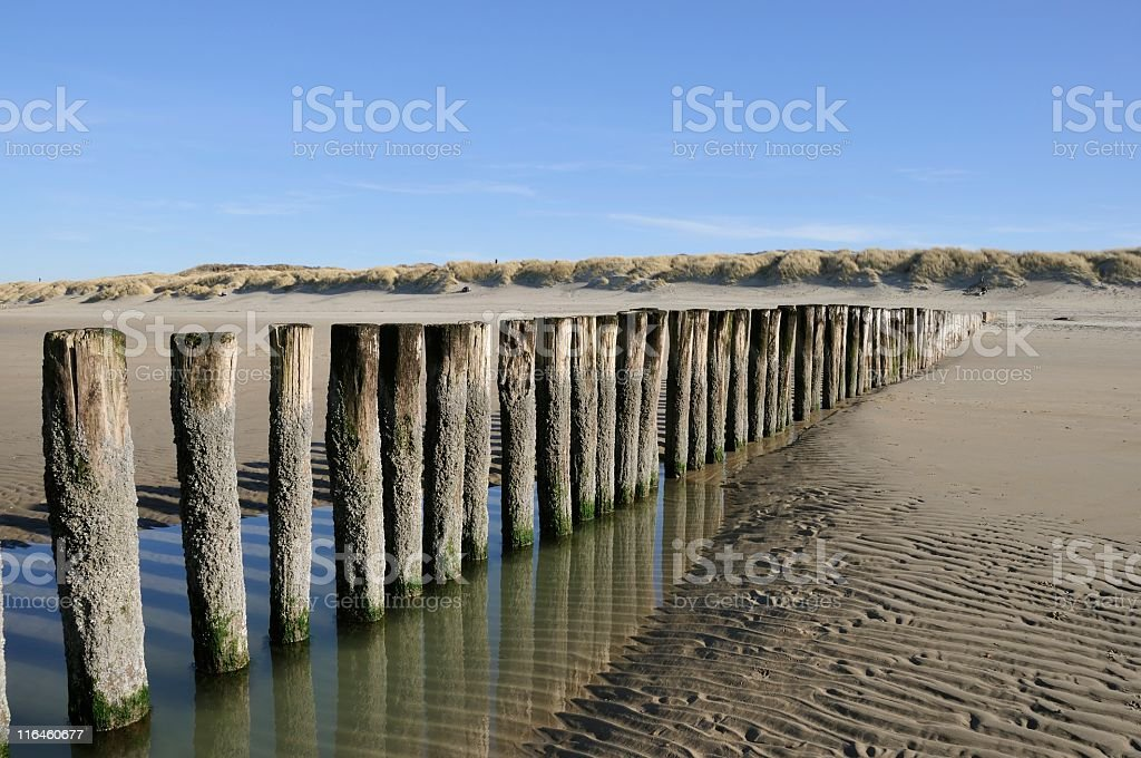North Sea beach royalty-free stock photo