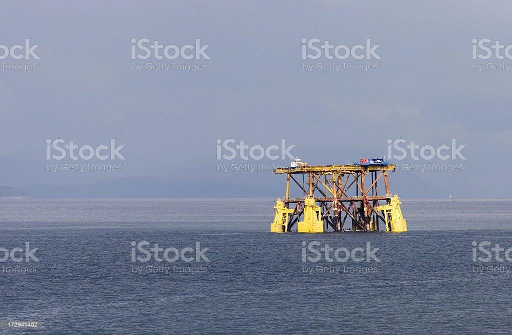 North Sea Oil Rig royalty-free stock photo